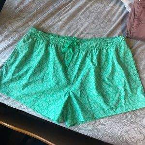 Lauren James Mint Green Printed Running Shorts